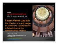 10-05 - AIPLA Patent Venue After In re Volkswagen (revised)_Page_01