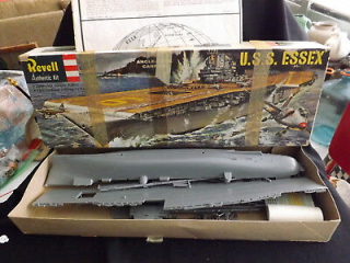 1957-Revell-USS-Essex-Angle-Deck-Carrier-Model